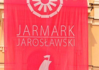 Flaga z napisem Jarmark Jarosławski